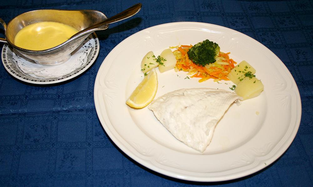 restaurant Maison Rouge Saeul menu plat poisson