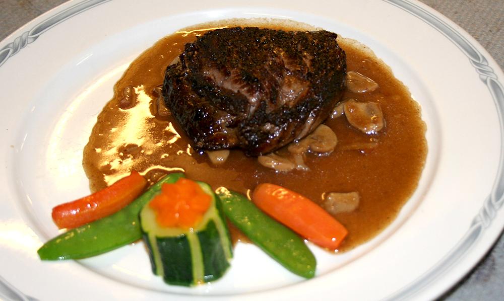restaurant Maison Rouge Saeul menu plat viande