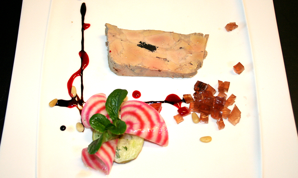 restaurant Maison Rouge Saeul menu entrée