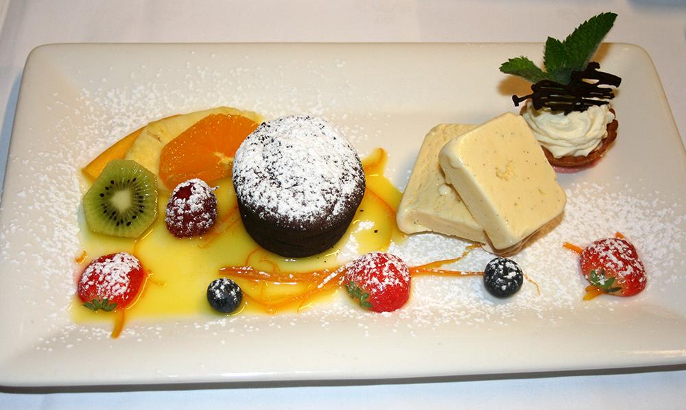restaurant Maison Rouge Saeul menu dessert